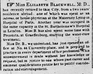 negative things about elizabeth blackwell Liz blackwell, a school nurse in he sat in the vice principal's office at cape elizabeth high school in maine this winter and to have a bad.